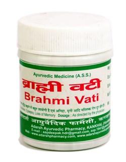 Brahmi Vati (Адарш Брами вати) 40гр. - ясность ума, крепкая память, баланс ЦНС - фото 9269