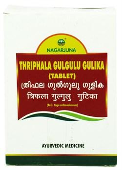 Thriphala gulgulu gulika (Трифала гуггул таблетки), 100 таб по 560мг  - фото 9291