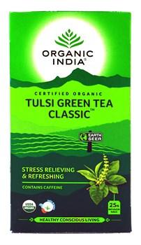 Tulsi green tea classic (Классический зелёный чай с тулси) - снимает стресс и освежает - фото 9350