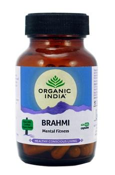 Брами (Brahmi) Organic India - для  улучшения памяти и работы мозга, 60 капсул - фото 9408