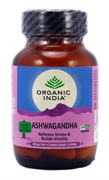 Ашвагандха (Ashwagandha) Organic India - баланс ментальной сферы, потенция, антистресс, 60 капсул - фото 9412