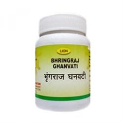 Bhringraj ghanvati (Брингарадж таблетки) - средство омолаживающее кости, зубы, волосы, зрение, слух и память, 50 таб - фото 9588