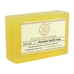 Глицериновое мыло ручной работы KHADI с сандалом и куркумой - фото 9655