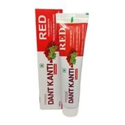 Красная травяная зубная паста Dant Kanti Red