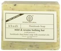 Мыло ручной работы Mint & sesame (с мятой и кунжутом)