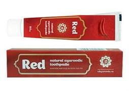 Красная аюрведическая зубная паста