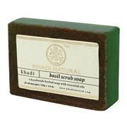 Глицериновое мыло ручной работы KHADI с базиликом