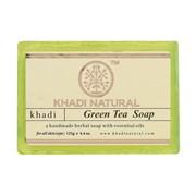 Глицериновое мыло ручной работы KHADI зелёный чай