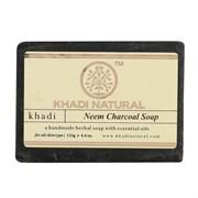 Глицериновое мыло ручной работы KHADI с нимом и бамбуковым углем