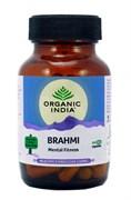 Брами (Brahmi) Organic India - для  улучшения памяти и работы мозга, 60 капсул