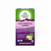 Tulsi green tea jasmine (Тулси зелёный чай с жасмином) - освежает и борется со стрессом